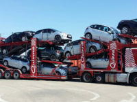 Car transport companies moving multiple vehicles
