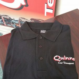 Auto transport vehicle carrier merchandise polo shirt
